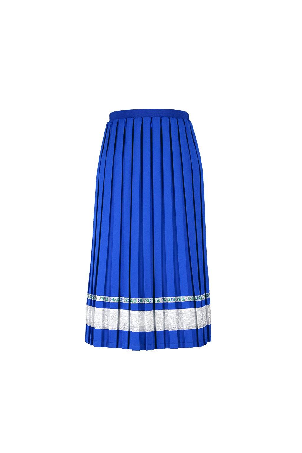 a13650868d7f CASUAL plisovaná sukňa parížská modrá - JANKIV SIBLINGS