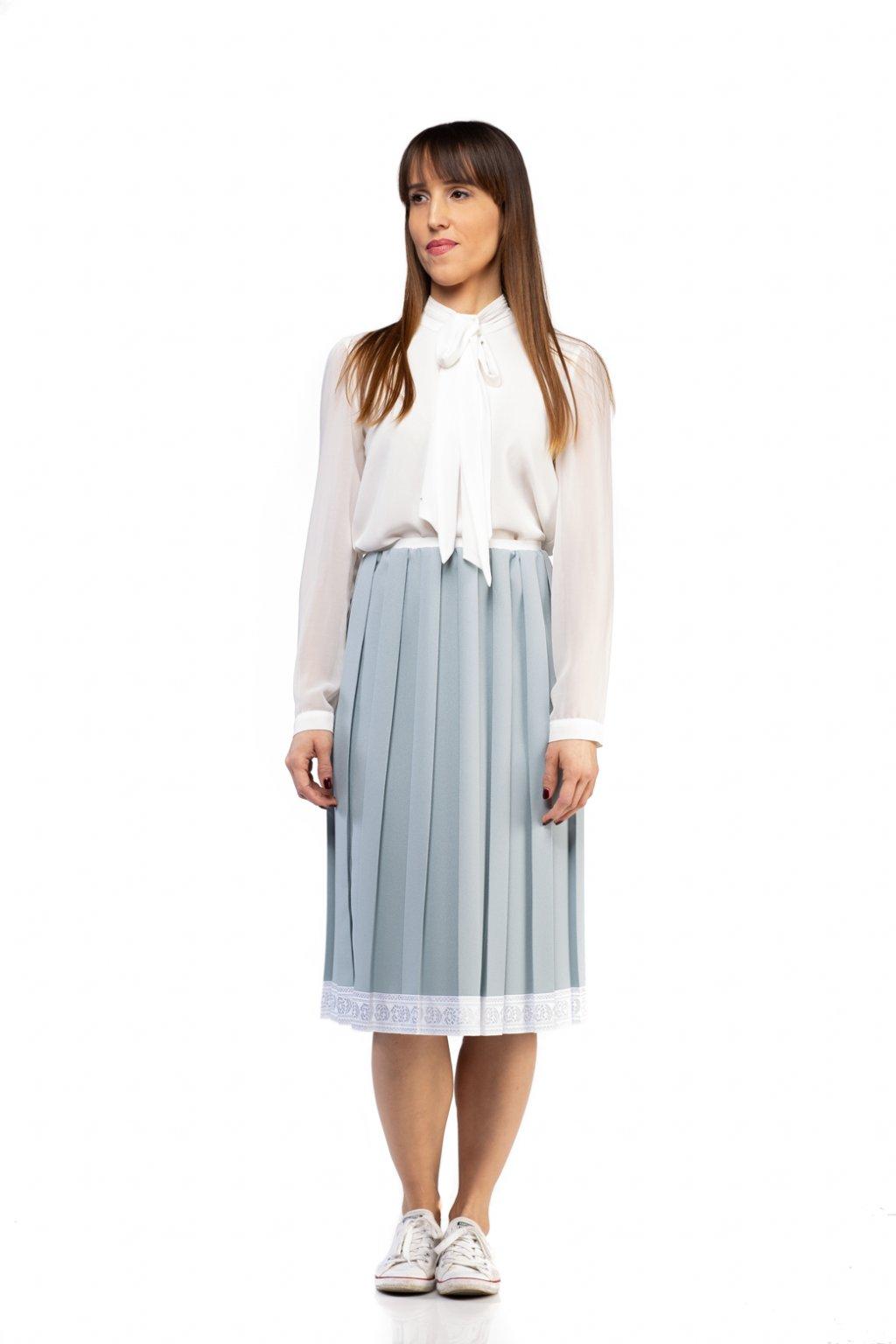 3f0f1356cb15 CASUAL plisovaná sukňa modrá - JANKIV SIBLINGS