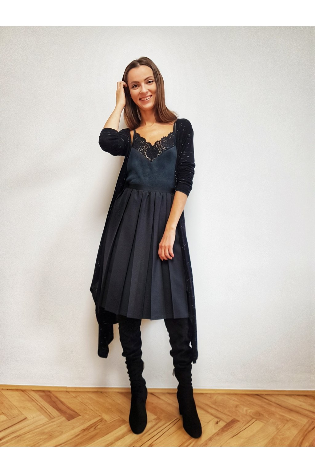 Plisovaná sukňa MIDI  GRANDBOX casual