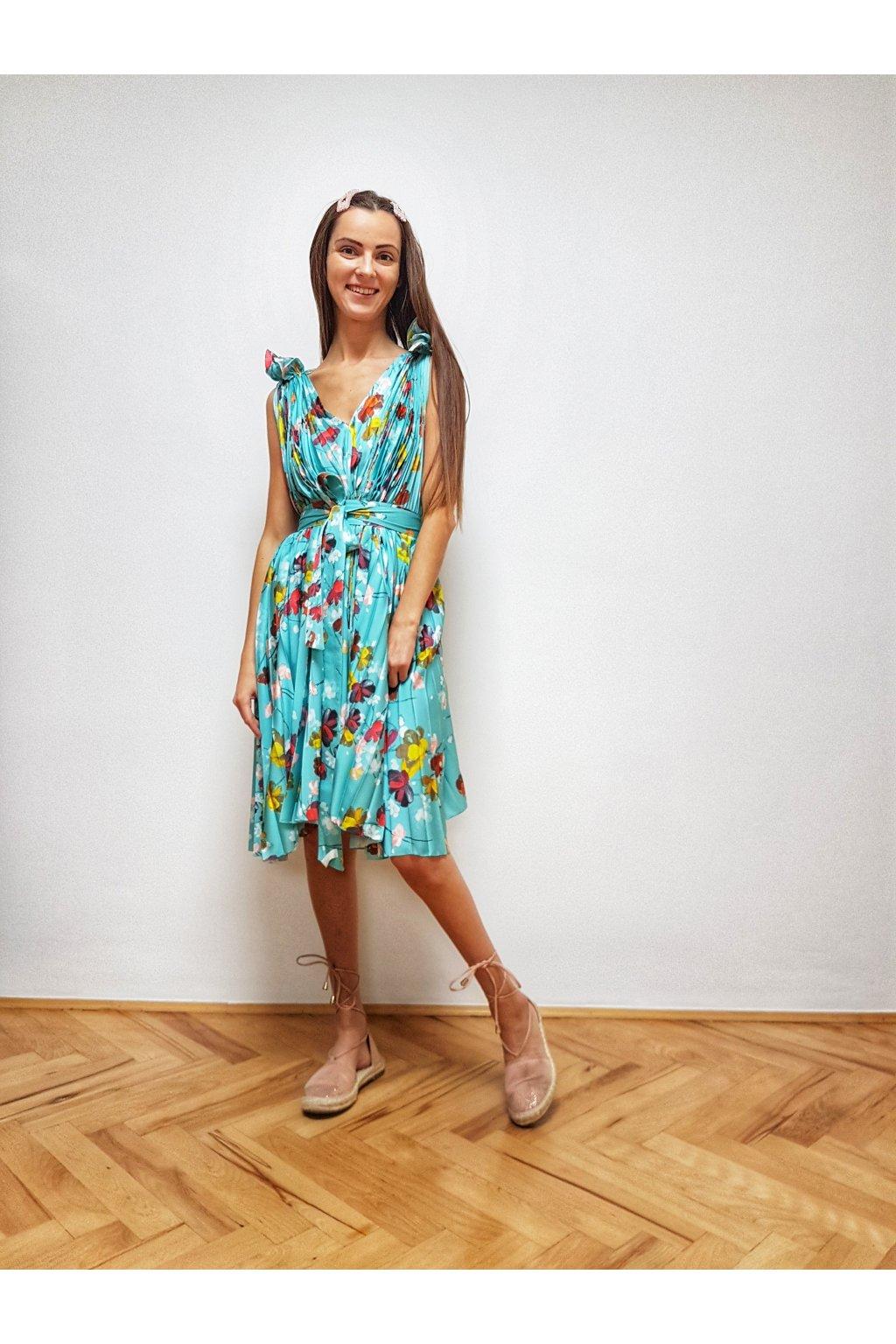 Krátke plisované šaty FLORENCIA