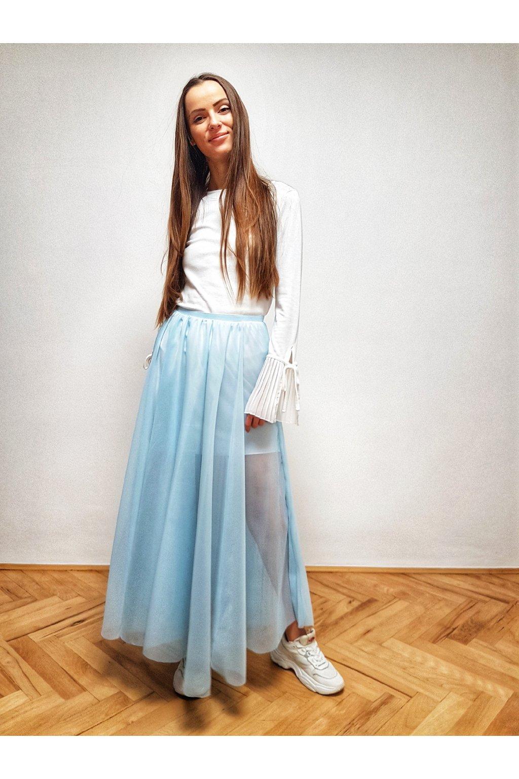 Plisovana sukňa nebeská ZD plisse