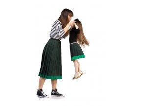 MAMA A DCÉRA plisovaná sukňa zelená